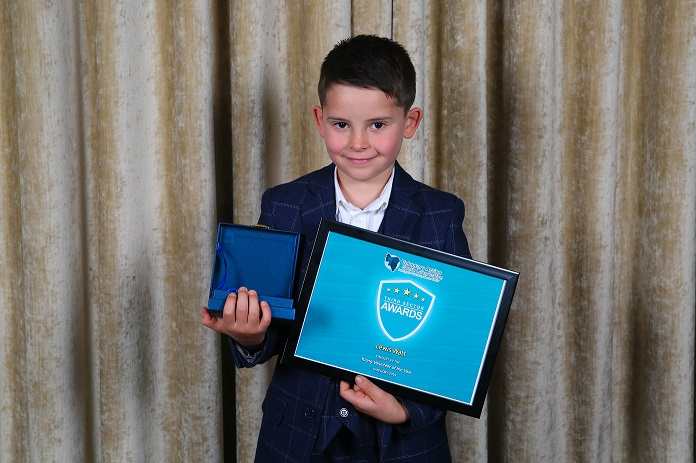 Sensational seven year old beats off veteran volunteers to land coveted achievement award